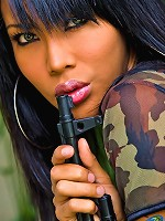 Super sexy military t-girl proves her sex combat readiness